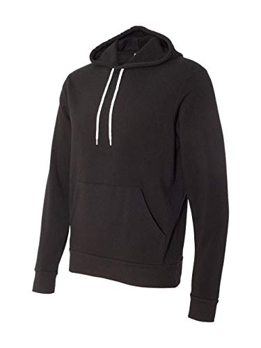 Bella 3719 Unisex Poly-Cotton Fleece Pullover Hoodie - Black, Extra Large