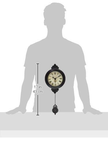 Ashton Sutton H1127-15BR Petite Pendulum Wall Clock