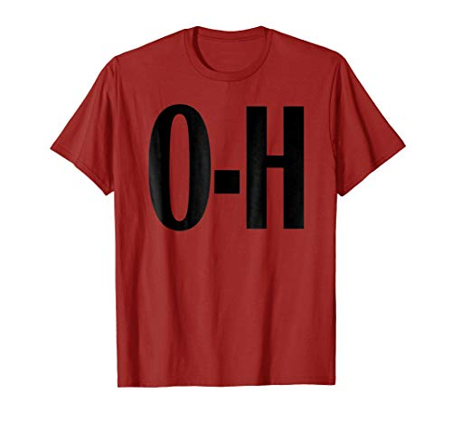 Mens O-H Couples Matching Ohio Sports Football Funny