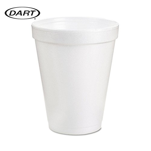 Hot Foam (Dart 8 Oz White Disposable Coffee Foam Cups Hot and Cold Drink Cup (Pack of 102))
