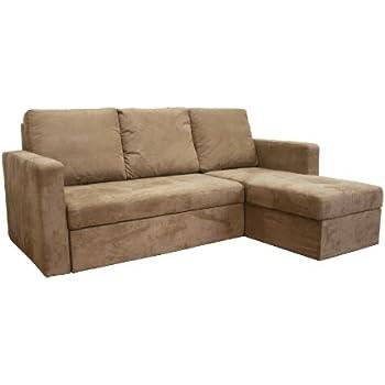 convertible sectional sofa bed. interesting sectional baxton studio linden tan microfiber convertible sectional  sofa bed with