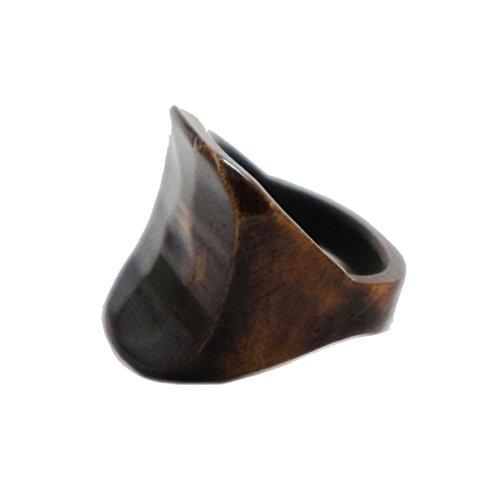 Bandaru Organics Antique Bone Saddle Curved Divet (Saddle Ring)