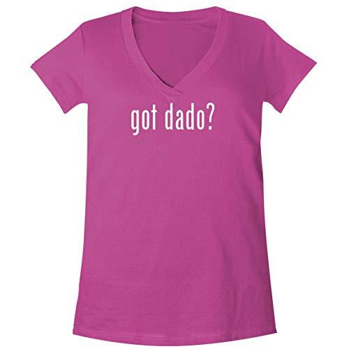 got dado? - A Soft & Comfortable Women's V-Neck T-Shirt, Fuchsia, - Stack Sexual