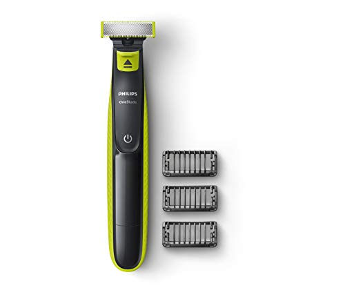 Philips QP2525/10 Cordless OneBlade Hybrid Trimmer and Shaver with 3 Trimming Combs (Lime Green) & Nose Trimmer Nt3650…