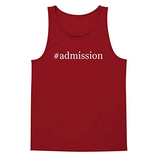#Admission - A Soft & Comfortable Hashtag Men's Tank Top, Red, Large