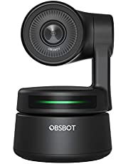 OBSBOT Tiny AI-Powered PTZ Webcam with AI Tracking Auto-Frame Gesture Control Audio Support Software Support Windows and MacOS for Video Chat Online Meeting Online Class Live Stremsing