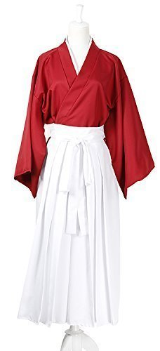 All 4 size: Rurouni to Kenshin Himura Kenshin cosplay costume hakama red ver by EARTH LEAD