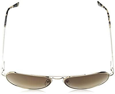 Calvin Klein Ck18105s Aviator Sunglasses, Gold/Brown, 59 mm