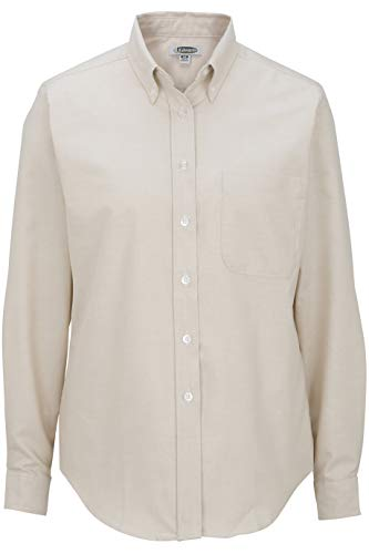 (Edwards Ladies' Long Sleeve Oxford Shirt 2XL TAN)