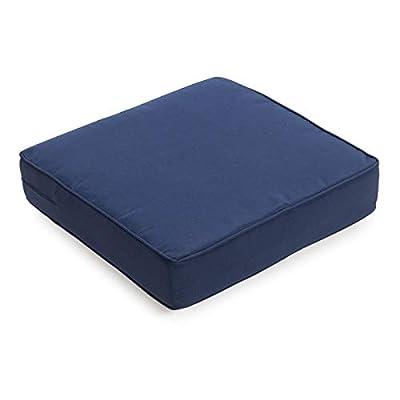 Navy Blue Dark Blue Outdoor Deep Seating Seat Cushion for Outdoor Deep Seat Patio Furniture 22.5 x 21.5 : Garden & Outdoor