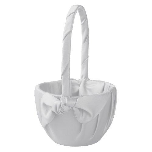 Ivy Lane Design Love Knot Flower Girl Basket, White