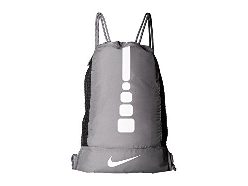 - Nike Men's Hoops Elite Basketball Gym Sack (Charcoal/Charcoal/White)