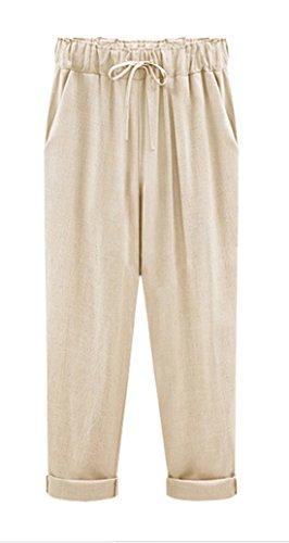 Pantalones Lisos Cordón Puntos Trousers Colores Pants Mujer Casual Caqui2 Freestyle Con Suelta Pantalón qBAHXxt