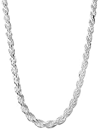 "<span class=""a-offscreen"">[Sponsored]</span>Sterling Silver Rope Chain Necklace Italian Made Diamon-Cut - 1.5mm to 5.0mm - Lengths 16 to 30 Inches"