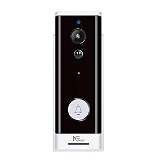 Video Doorbell Wireless, Wi-Fi Doorbell Camera with Motion Detector Smart 1080P HD Waterproof Home Security Peephole Cam Door Bell for Front Door with Cloud Storage/Battery Powered (Pro Black)