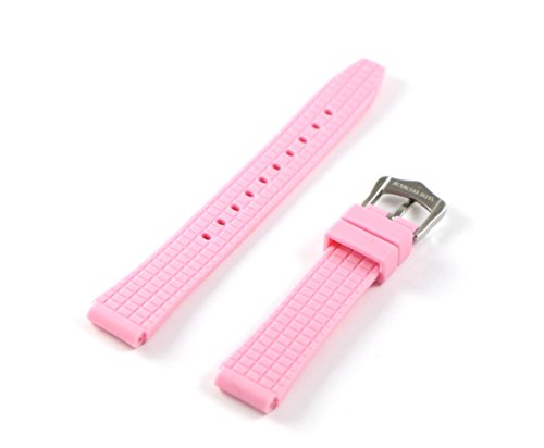 Swiss Legend 16MM Light Pink Rubber Watch Strap & Silver Stainless Buckle fits 35mm Love Connection Watch by Swiss Legend (Image #3)