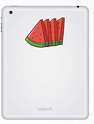 Mel/ón de fruta del verano del ordenador port/átil # 18086 10 cm de ancho 2 x 10cm sand/ía pegatinas de vinilo