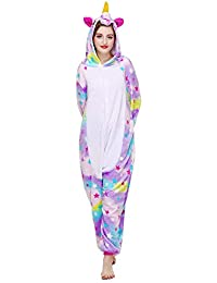 c3e5236197 Licorne Unisex Adult Pajamas, Nousion Cosplay Christmas Unicorn Sleepwear  Onesies Outfit
