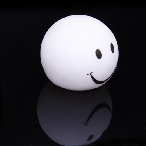 AMOMAZ Cute Smiley-Face Color Changing LED Lamp Decoration Night Light]()