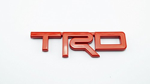 TRD TOYOTA RACING STICKER RED PLASTIC 3D DECAL EMBLEM 12.5X3.5cm