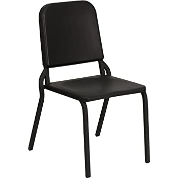 Flash Furniture HERCULES Series Black High Density Stackable Melody Band/Music Chair