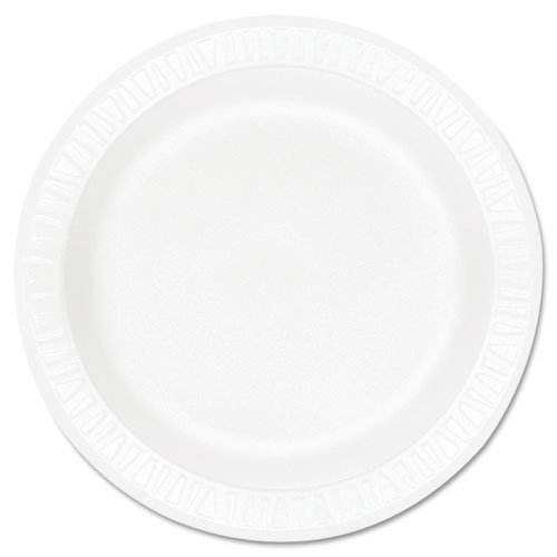 (Dart 9PWCR, 9-Inch Concorde White Non-Laminated Foam Plate, Take Out Catering Disposable Plates (50))