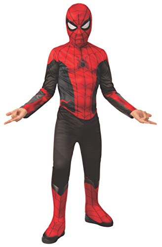 (Rubie's Marvel Spider-Man Far from Home Child's Spider-Man Costume & Mask, Large Red/Black)