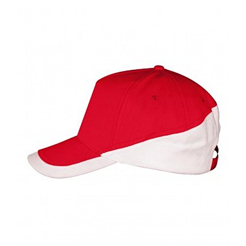 Booster Baseball - SOLS Unisex Adults Booster Two Tone Baseball Cap (One Size) (Red/White)