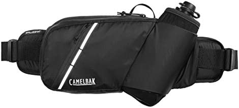 CamelBak Podium Flow Bike Hydration Belt – Easy Access Bottle Pocket – Podium Dirt Series Bottle – Adjustable Waist Buckle – Secure Zipper Pocket – Riding Belt – 21 Ounce