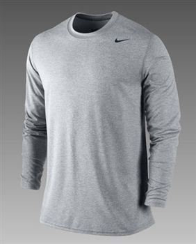 NIKE LEGEND DRI-FIT POLY LONG-SLEEVE CREW (MENS) - L