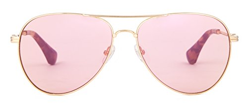 Sonix Women's Lodi Sunglasses, Gold Wire/Pink, One - Sunglasses Sonix
