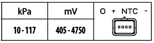 HELLA 6PP 009 400-301 Sensor Ladedruck Anschlussanzahl 4