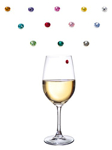 Bliss-Home-Elegant-Multicolor-Swarovski-Crystal-Magnetic-Wine-Charms-Drink-Markers-for-Wine-Champagne-Beer-Cocktail-Glasses-Set-of-12