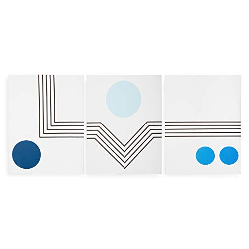 Now House by Jonathan Adler Mod Lines Printed Canvas Triptych