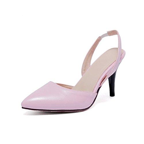Fête Haut Travail Rose Pointue Chaussures Lalang Femmes Sandales Talon de Escarpins EtnHqSY
