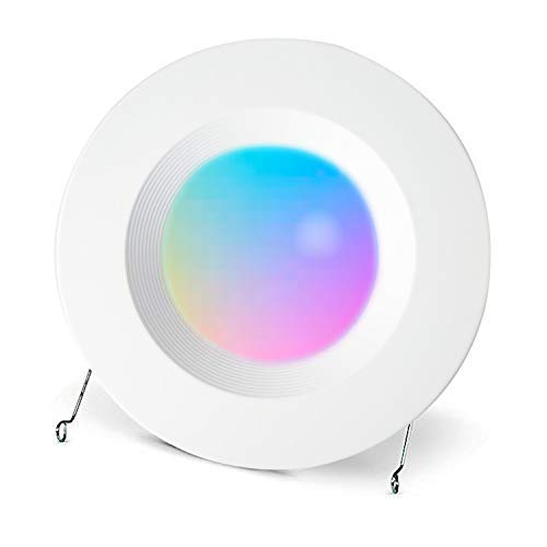 Smart WiFi LED Recessed Retrofit Downlight 5//6 inch 6500K No Hub 15W Ceiling Down Lighting Compatible with Alexa,Siri and Google Home RGBCW Multicolor Color Changing Retrofit Can Lights 2700K
