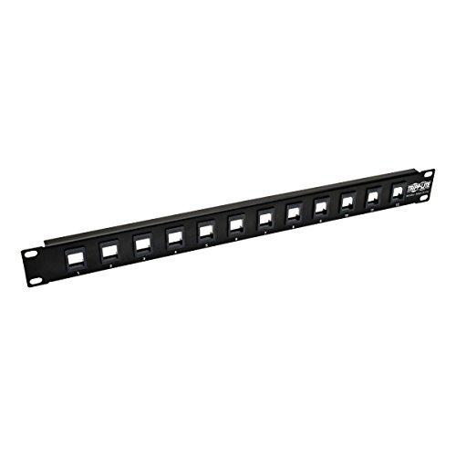 Tripp Lite 12-Port Keystone Blank Patch Panel RJ45, USB, HDMI, Cat5e / Cat6 Rackmount Unshielded 2URM TAA (N062-012-KJ)