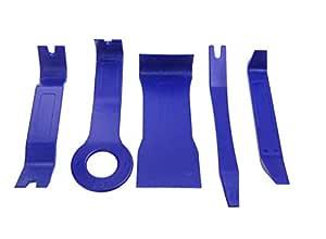 Auto Car Dash Radio Door Clip Panel Trim Removal Tool Set Kit Plastic 5pcs