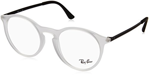 Ray-Ban Men's 48 mm 0RX7132 Rubber Trasparent One Size (Rayban Goggle)
