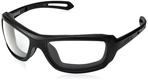 Wiley X CCWAV03 Wave Sunglasses Clear Lens Matt Frame, Black