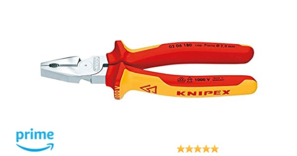 Knipex 7651580180 Alicate Universal, 180 mm: Amazon.es: Bricolaje y herramientas