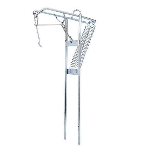 - VGEBY Metal Fishing Rod Double Spring Holder Rack with Automatic Tip-Up Hook Setter
