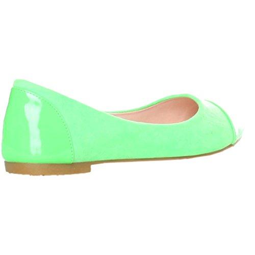 Ana Lublin Damen Schuhe Ballerinas Neon Grün Größe 38