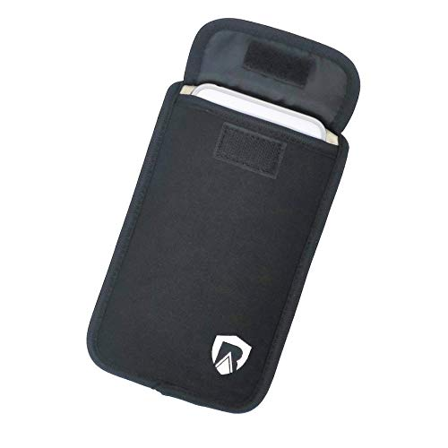 RadiArmor Anti-Radiation Cell Phone Sleeve - EMF Blocking Pouch That fits Most Cell Phones (Black, Large)