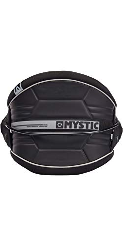 Mystic Watersports - Surf Kitesurf & Windsurfing Arch Flexhell Waist Harness Black - Soft Neoprene Edges - 3D Molded Exterior from Mystic