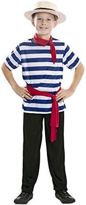 EUROCARNAVALES Disfraz de Gondolero para niño: Amazon.es: Juguetes ...