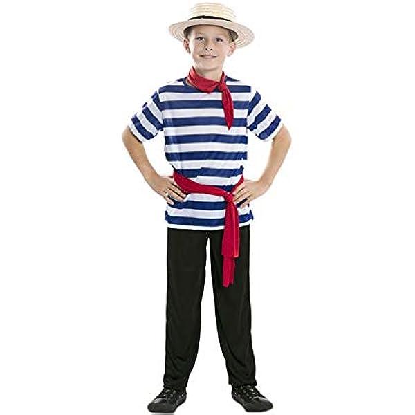 Disfraz de Gondolero Bruno infantil: Amazon.es: Juguetes y juegos