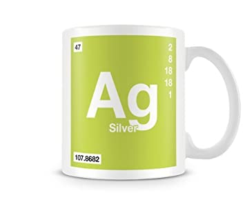 Periodic table of elements 47 ag silver symbol mug amazon periodic table of elements 47 ag silver symbol mug urtaz Gallery