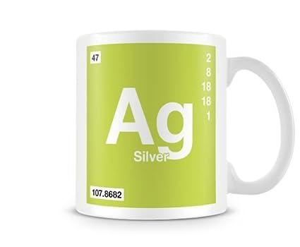 Amazon Periodic Table Of Elements 47 Ag Silver Symbol Mug
