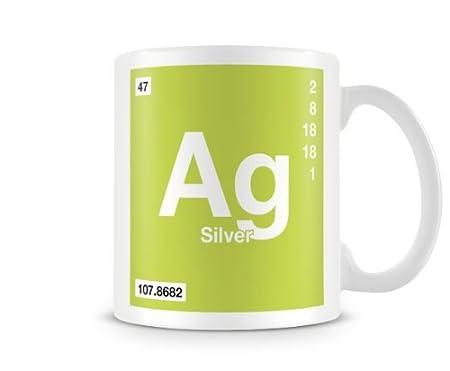 Periodic table of elements 47 ag silver symbol mug amazon periodic table of elements 47 ag silver symbol mug urtaz Images